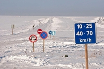 Does this count Ice road in Estonia Speed limit - kmh and - kmh Advised to avoid the range of - kmh for extended periods of time because of resonance Its also illegal to fasten your seat belts