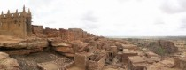 Dogon hillside village with Mosque Mali