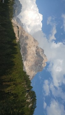 Dolomites Italy - A beautiful day to hike to the top