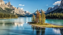 Domestic Travel Spirit Island Jasper National Park Canada - pm Sept th  - OC