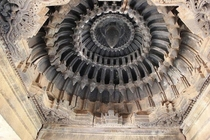 Domical bay ceiling art in the Veera Narayana Swami Temple th century Looks like an exauhst fan of rocket or fighter jet engine  India