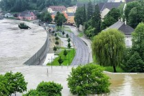 Donau Flooding in Grein Austria