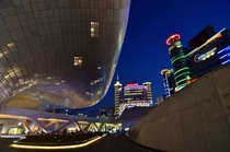 Dongdaemun area seen from Dongdaemun Design Plaza Seoul South Korea OC