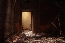 Doorway inside a derelict police station  x
