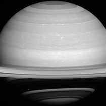 Dot Against the Dark New Cassini Image of Saturn with Mimas