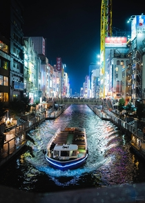 Dotonbori River in Osaka Japan