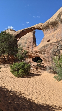 Double O Arch in Arches National Park Moab UT