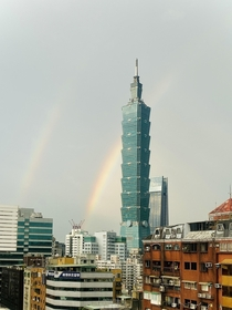 Double Rainbow arching over Taipei  -
