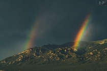 Double rainbow at Great Sand Dunes NP July  bbarker