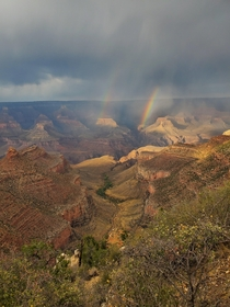 Double Rainbow Grand Canyon AZ