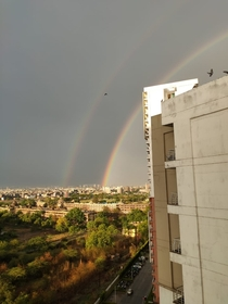 Double Rainbow in Noida
