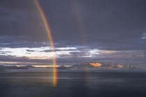 Double Rainbow Over Lake Rakshastal Western Tibet  OC