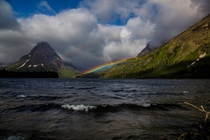 Double Rainbow Over Two Medicine Lake Glacier National Park MT