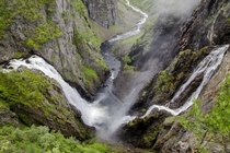 Double waterfall - Norway Eidfjord Vringfossen