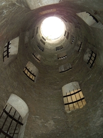 Dover Castles triple staircase Grand Shaft built to rapidly move troops to the sea in case of an invasion by Napoleon