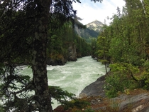 Downriver from Overlander Falls Frasier river Mount Robson Provincial Park British Columbia OC