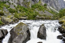 Downstream of Vringfossen Norway x