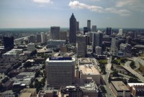 Downtown Atlanta from the BOA building