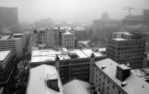 Downtown Atlanta GA in Snow
