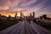 Downtown Atlanta long exposure