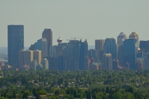 Downtown Calgary smothered in haze from the recent wildfires