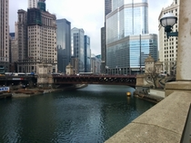 Downtown Chicago in March