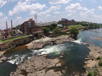 Downtown Columbus GA with whitewater courseLow Water