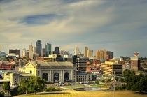 Downtown Kansas City from Liberty Memorial Tonemapped
