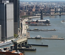 Downtown Manhattan Heliport at Pier  in the East River