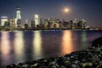 Downtown Manhattan Moonrise