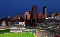 Downtown Minneapolis from Target Field