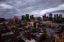 Downtown Montreal from  stories up April    x