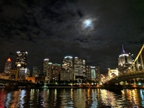 Downtown Pittsburgh last night from the other side of the Allegheny