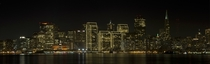 Downtown San Francisco from Treasure Island at night - first night panorama so I left the resolution up