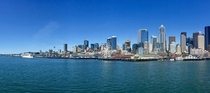 Downtown Seattle WA from the Bainbridge Ferry