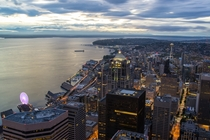 Downtown Seattle Washington from Columbia Center Last Weekend