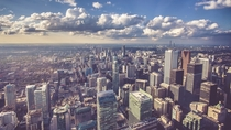 Downtown Toronto Canada from the CN Tower