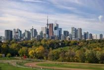 Downtown Toronto from Riverdale Park