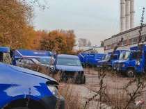 Dozens of Russian Post Trucks Abandoned in Moscow