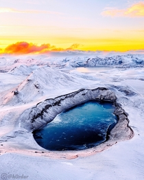 Dragons Eye  - By far my favorite shot Ive ever taken  worth the  hour drive - Hnausapollur Crater Icelandic Highlands  - Instagram hrdur