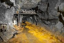 Drainage level abandoned limestone mine Scotland