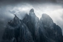 Dramatic mountains in the Dolomites Italy