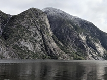 Dramatic scenery near Viking burial mounds Hreid Eidfjord Norway