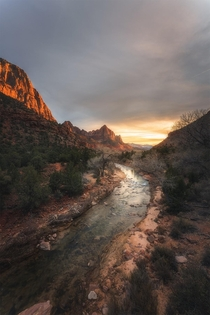 Dramatic sunset at Zion National Park  matt_thomson_visuals