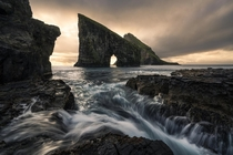 Drangarnir is of my favorite locations in the Faroe islands despite the level of saltspray my camera had to endure