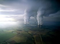 Drax coal-fired power plant in North Yorkshire England