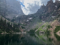 Dream Lake at Rocky Mountain NP  oc