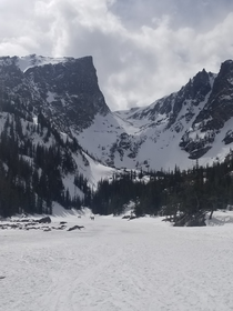 Dream Lake in Rocky mountain national park April
