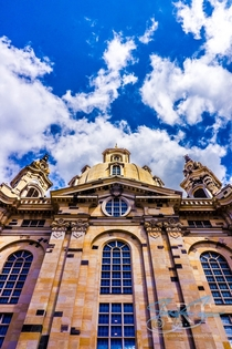 Dresden Frauenkirche Germany It was destroyed during WWll and was recently rebuilt  to