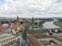 Dresden from the top of the Frauenkirche